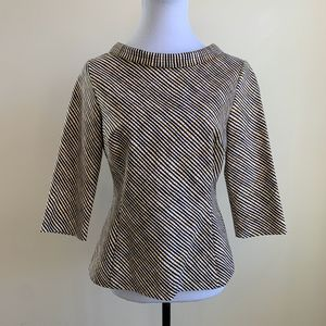 Boden Mia Back Zip Up Top size 8